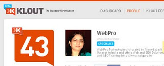 webpro klout