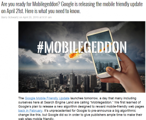 Mobilegeddon -SEL