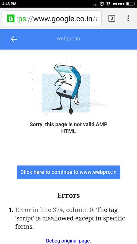 AMP-Errors-Page
